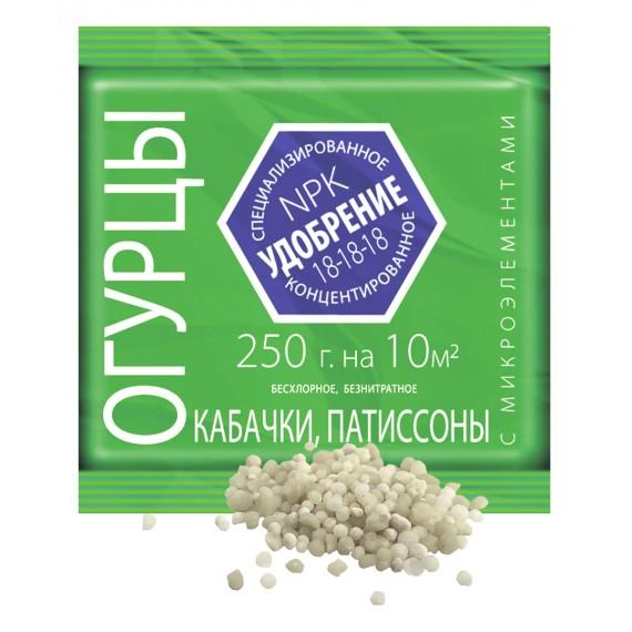 Удобрение ЛЕТТО для Огурцов, Кабачков, Патиссонов с микроэлементами 0,25кг минеральное