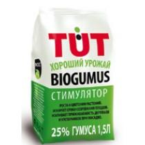Биогумус TUT хороший урожай 1,5л гранулы ЭКОСС-25